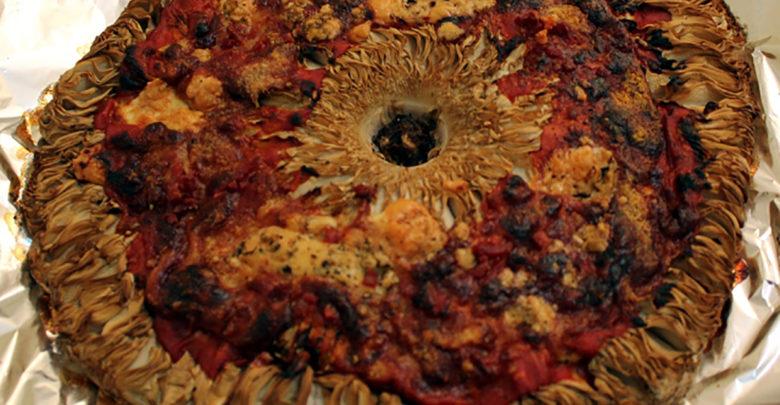 macrolepiota en pizza