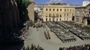 Rodaje de la película Patton en la plaza de la Catedral de Almería