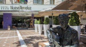 El Hotel Nuevo Torreluz de Almería capital.