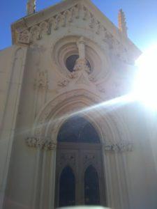 Conjunto arquitectónico en el cementerio de San José en Almería.