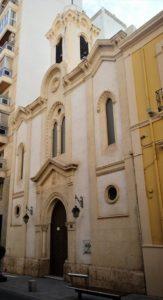 fachada de la capilla Sagrada Familia de Almería