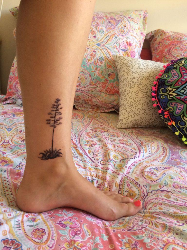 tatuajes almerienses de una pita de Cabo de Gata