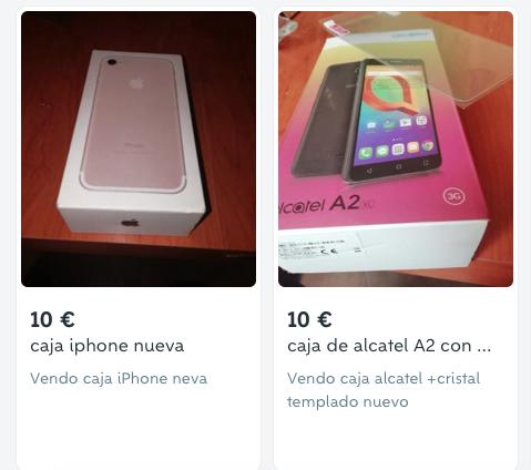 Ejemplo de lo que los almerienses compran y venden en internet.
