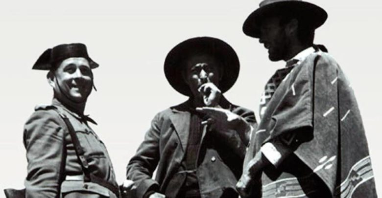 Clint Eastwood, Lee Van Cleef y la guardia civil