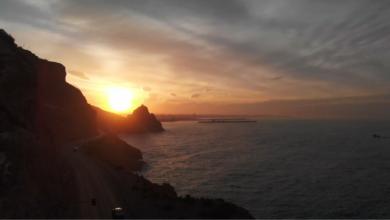 Photo of Amanecer en Almería, a vista de dron, desde el faro del Bayanna