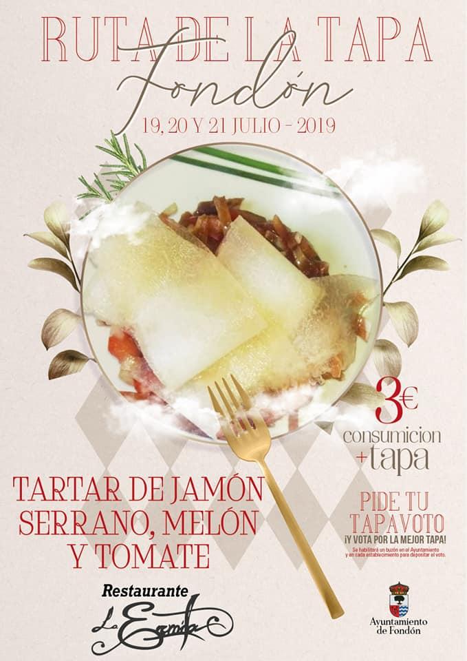 La Ermita: Tartar de jamón serrano, melón y tomate