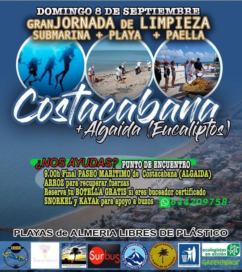 poster limpieza playa costacabana