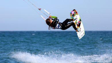 Photo of Osaïa Reding,  una joven mojaquera en lo más alto del kitesurf