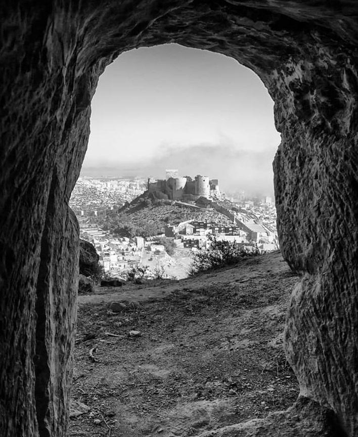 La Alcazaba desde las canteras califales de Almería