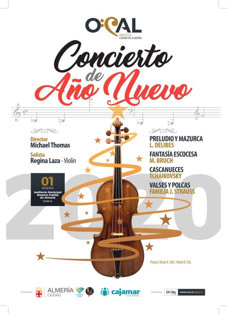 En Almería no podemos tener saltos de esquí, pero si un Concierto de Año Nuevo. Con la Orquesta Ciudad de Almería (OCAL), dirigida por Michael Thomas